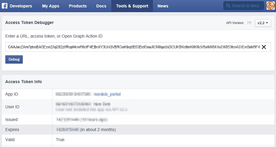 Facebook Access Token Debugger