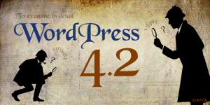 WordPress4.2をチェックをしています