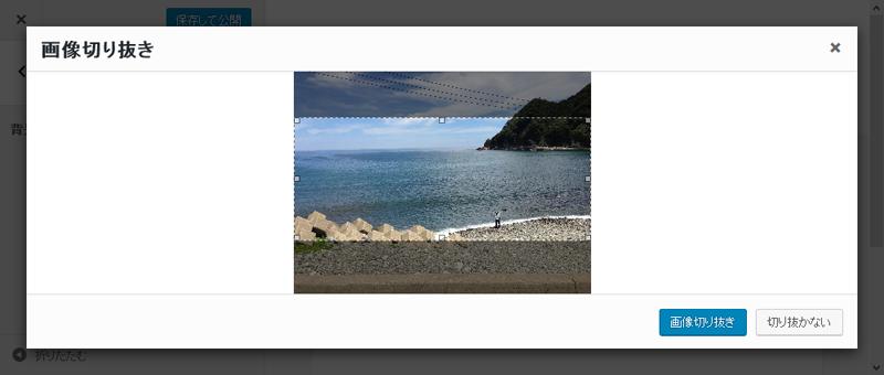 WordPress4.5 背景画像トリミング(