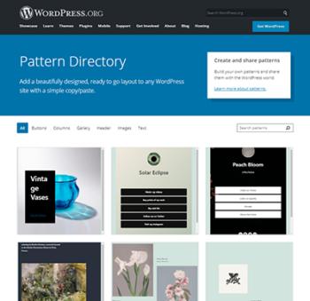 WordPress5.8 ブロックパターンディレクトリ